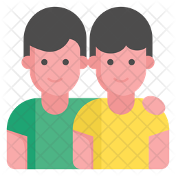Young Friend Flat Icon