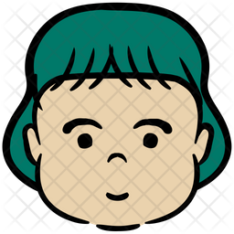 Youngster Colored Outline Icon