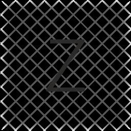 Z Glyph Icon