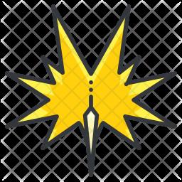 Zapdos Colored Outline Icon