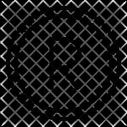Zar Line Icon