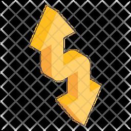 Zigzag Arrows Direction Isometric Icon