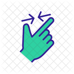Zoom Out Scroll Touch Icon Of Colored Outline Style Available In Svg Png Eps Ai Icon Fonts