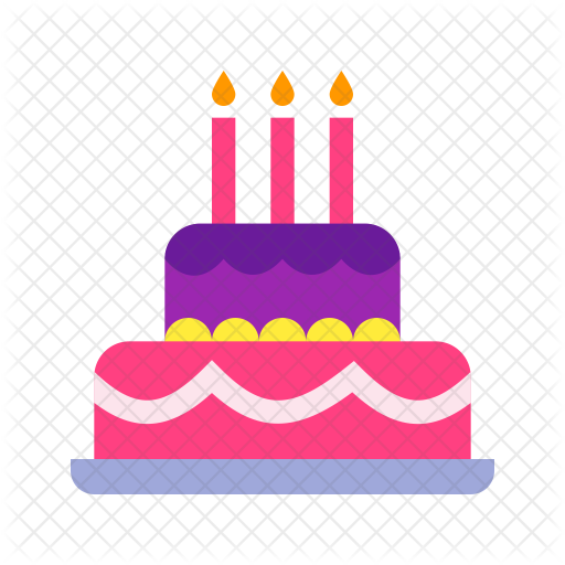 Superb Birthday Cake Icon Of Flat Style Available In Svg Png Eps Ai Funny Birthday Cards Online Kookostrdamsfinfo