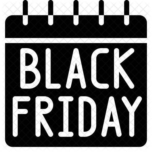 Black Friday Date Icon Of Glyph Style Available In Svg Png Eps Ai Icon Fonts