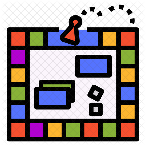 Board Game Icon Of Colored Outline Style Available In Svg Png Eps Ai Icon Fonts