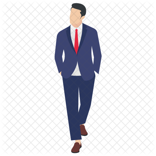 boss walking icon of flat style available in svg png eps ai icon fonts boss walking icon