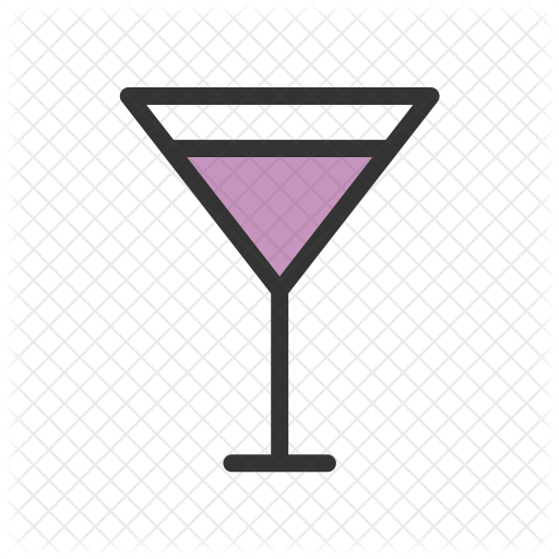 Cocktail Glass Icon Of Colored Outline Style Available In Svg Png Eps Ai Icon Fonts