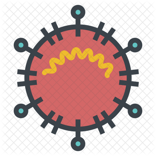 Coronavirus Icon Of Colored Outline Style Available In Svg Png