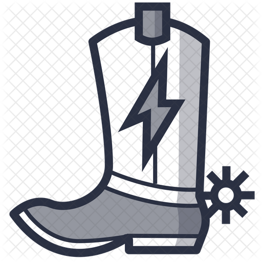 Cowboy Shoes Icon Of Colored Outline Style Available In Svg Png Eps Ai Icon Fonts
