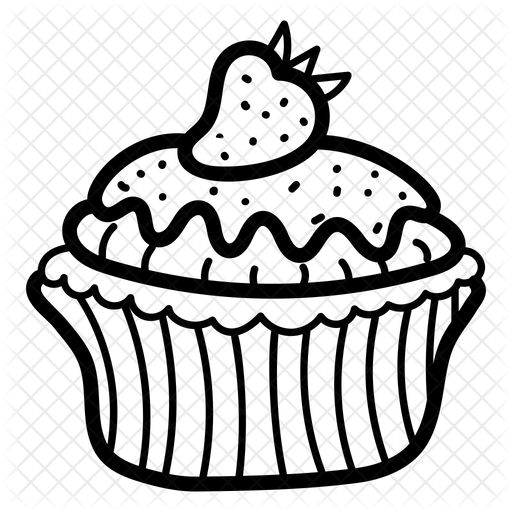 Cupcake Icon Of Doodle Style Available In Svg Png Eps Ai Icon Fonts