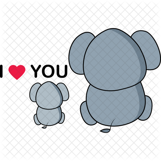 Elephant Family Love Icon Of Sticker Style Available In Svg Png Eps Ai Icon Fonts African elephant world elephant day family drawing, elephant decoration, mammal, animals, decor png. elephant family love icon