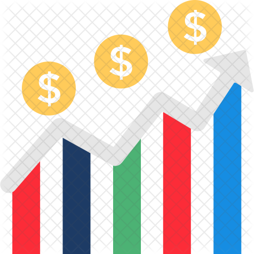 financial graph icon of flat style available in svg png eps ai icon fonts financial graph icon