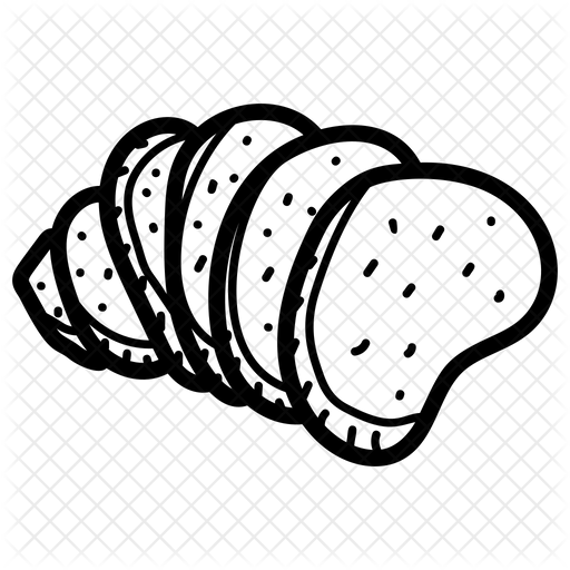 Garlic Bread Icon Of Doodle Style Available In Svg Png Eps Ai Icon Fonts