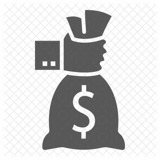 Hand Holding Money Bag Icon Of Glyph Style Available In Svg Png Eps Ai Icon Fonts