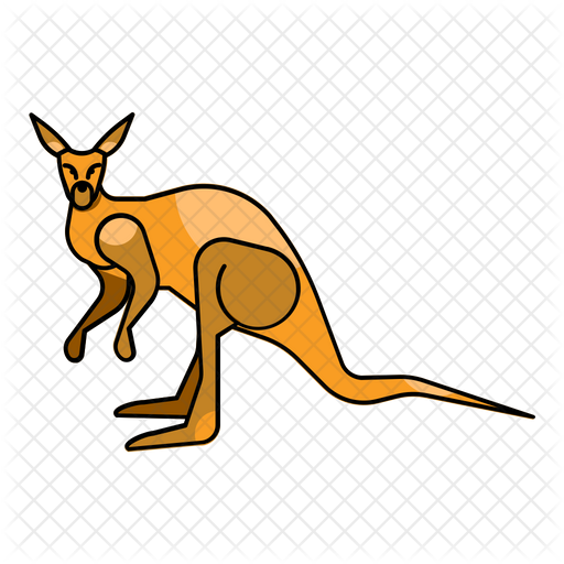 Kangaroo Icon Of Colored Outline Style Available In Svg Png Eps Ai Icon Fonts