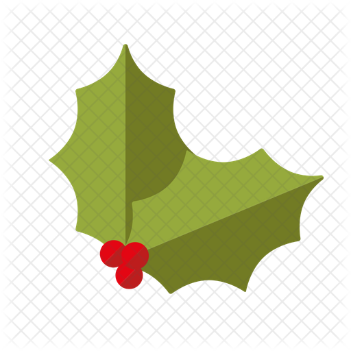 Holly Leaves Icon Of Flat Style Available In Svg Png Eps Ai Icon Fonts