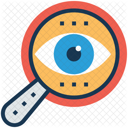magnifying glass icon of colored outline style available in svg png eps ai icon fonts magnifying glass icon