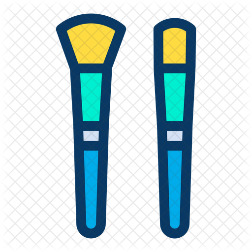 Makeup Brushes Icon Of Colored Outline Style Available In Svg Png Eps Ai Icon Fonts
