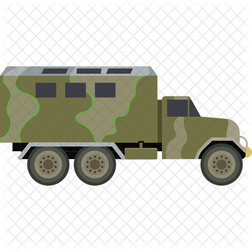 Military Truck Icon Of Flat Style Available In Svg Png Eps Ai Icon Fonts