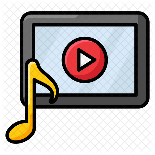 Music Video Icon Of Colored Outline Style Available In Svg Png Eps Ai Icon Fonts