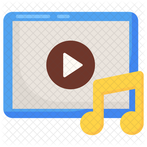 Music Video Icon Of Flat Style Available In Svg Png Eps Ai Icon Fonts