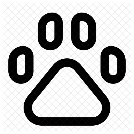 Paw Print Icon Of Line Style Available In Svg Png Eps Ai Icon Fonts