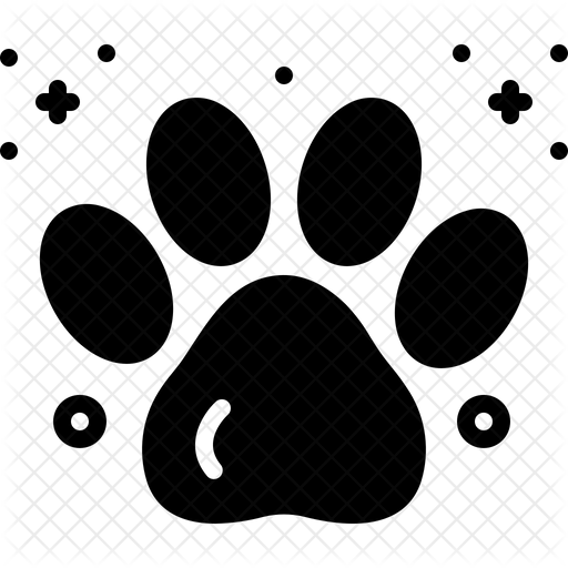 Paw Print Icon Of Glyph Style Available In Svg Png Eps Ai Icon Fonts