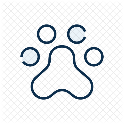 Paw Print Icon Of Colored Outline Style Available In Svg Png Eps Ai Icon Fonts