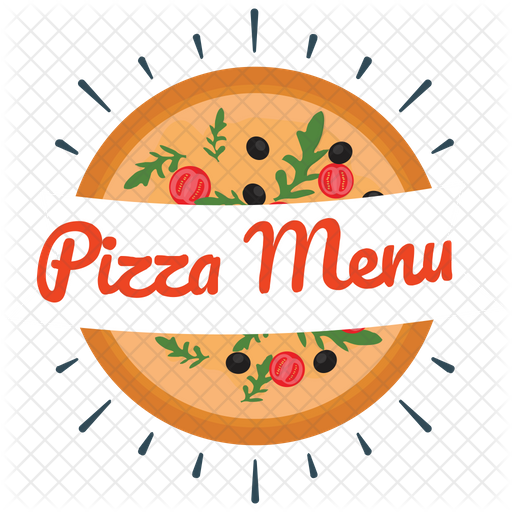 Pizza Menu Logo Icon of Flat style - Available in SVG, PNG, EPS, AI & Icon  fonts