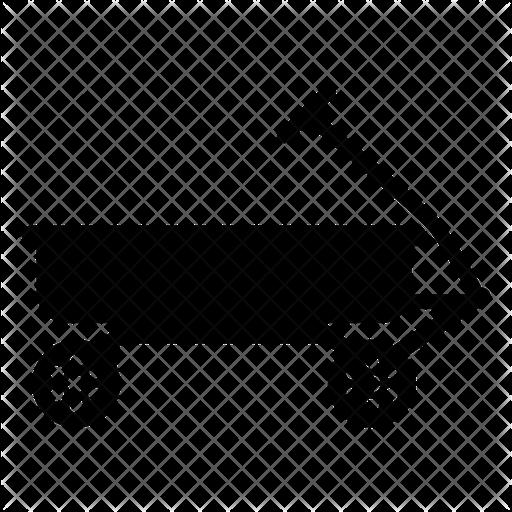 Radio Flyer Wagon Icon Of Glyph Style