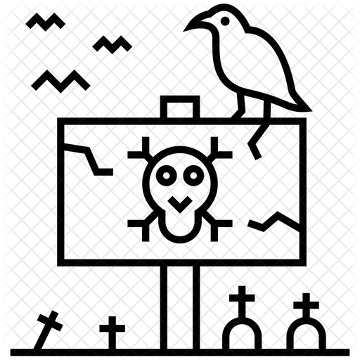 Scary Graveyard Icon Of Line Style Available In Svg Png Eps Ai Icon Fonts