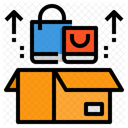 Shopping Box Icon Of Colored Outline Style Available In Svg Png Eps Ai Icon Fonts