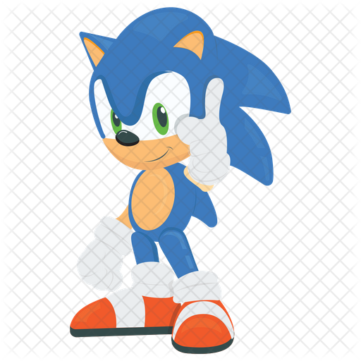 Sonic The Hedgehog Icon Of Flat Style Available In Svg Png Eps Ai Icon Fonts