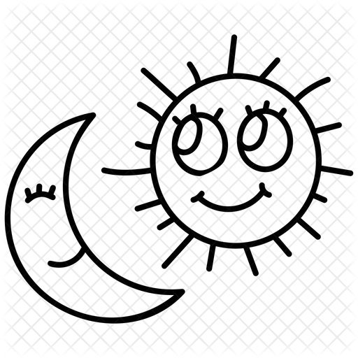 Sun And Moon Icon Of Doodle Style Available In Svg Png Eps Ai Icon Fonts