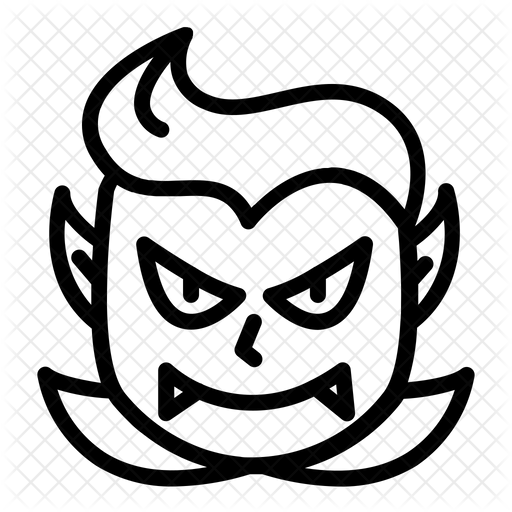 Vampire Dracula Icon Of Line Style Available In Svg Png Eps Ai Icon Fonts