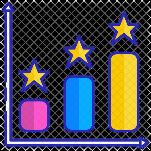 Vertical bar graph Icon