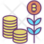 Bitcoin Plant And Coins