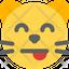 Cat Tongue Smiling Eyes
