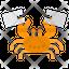 Crab Stuck In Plastic