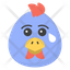 Crying chicken Face