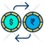 Dollar And Rupees Exchange