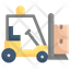 Forklift Car Bring A Box