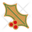 gingerbread holly leaf