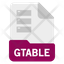 gtable file