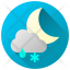 Rainy Snowy Night