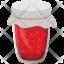 Raspberry Glass Jar