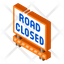 Road Closed Board