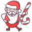 Santa with Candy Cane