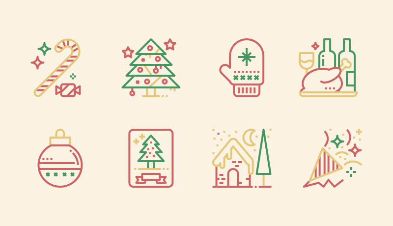 Outline Christmas icon pack by Becris 2